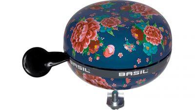 Basil Bloom - fietsbel - 80 mm - blauw met bloemen